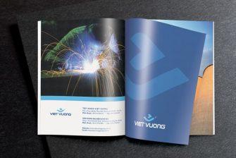 thiết kế hồ sơ năng lực công ty xây dựng Việt Vương