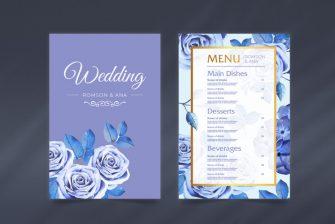 thiết kế Menu tiệc cưới