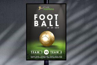 thiết kế Poster bóng đá