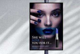 thiết kế Poster mỹ phẩm