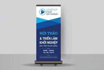 thiết kế standee hội thảo